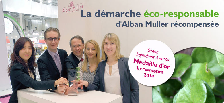 Alban Muller M�daille d'or aux green ingredient Award